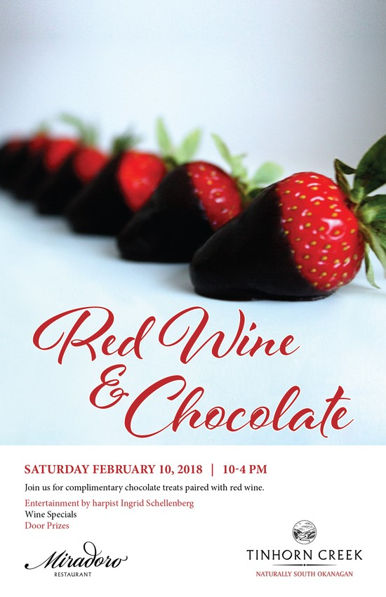 Red Wine & Chocolate Saturday Feb 10, 2018